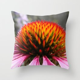 Lavender Echinacea/Coneflower Throw Pillow