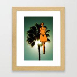 palm tree girl  Framed Art Print
