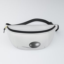 Perfect Black Pearl on white satin background Fanny Pack