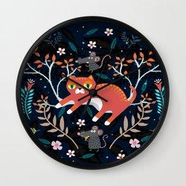 Cat Munchkin No more Hunt Wall Clock