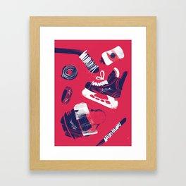 Tools of a Hockey Player Framed Art Print
