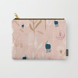 Magic Garden - Pink and Gold Carry-All Pouch