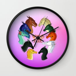 Wings of Fire - Dragonets Wall Clock