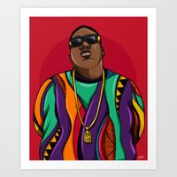 notorious Art Prints featuring  Notorious by McfreshCreates