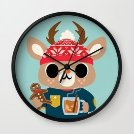 Deer in a Sweater Wall Clock