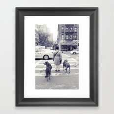 don't walkies... Framed Art Print