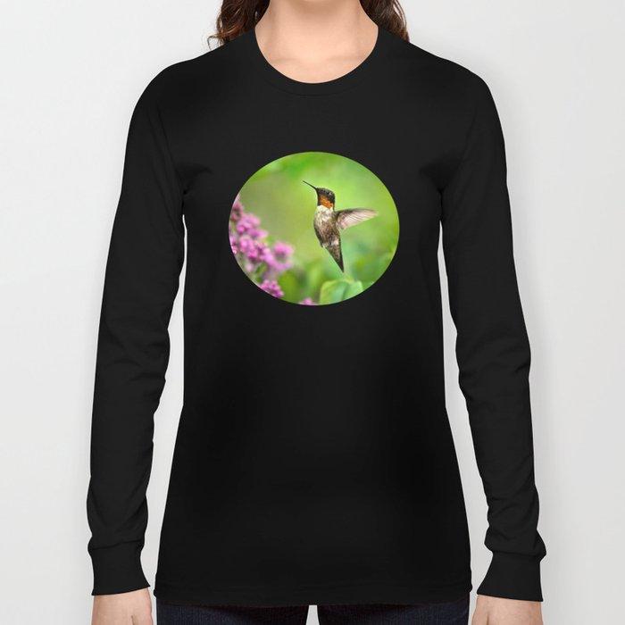 Hummingbirds Welcome Long Sleeve T-shirt