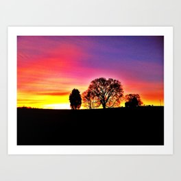 Another Tennessee sunset Art Print