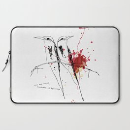 you are worth hundreds of sparrows Laptop Sleeve
