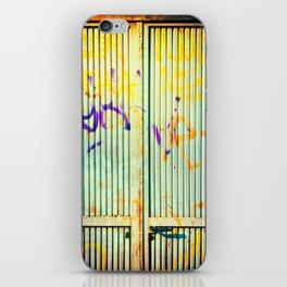 Graffiti on iron door iPhone Skin