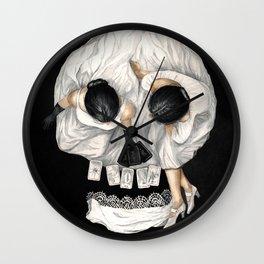 Tarot Reader Girl - Optical Illusion Skull Wall Clock