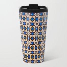 Lisbon tiles - decoratives in brown and blue Travel Mug