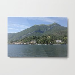 View of Tremezzo and Villa Carlotta on Lake Como, Italy Metal Print