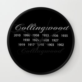 Collingwood Premierships Wall Clock