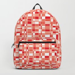 Mod Gingham - Red Backpack