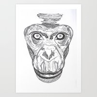ape Art Prints featuring Ape by Eugene Lee
