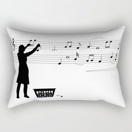 Making music Rectangular Pillow