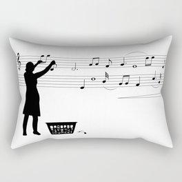 Making music Rectangular Pillow