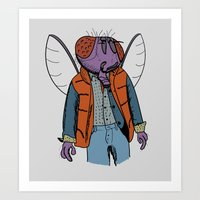 mcfly Art Prints featuring Hello McFly! by mattographer