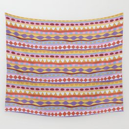 Stripey-Sunset Colors Wall Tapestry