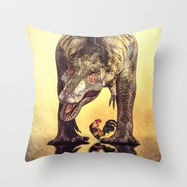 Discussion of Evolution Throw Pillow