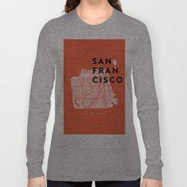 San Francisco Map 04 Long Sleeve T-shirt