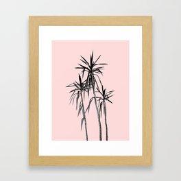Palm Trees - Blush Cali Summer Vibes #1 #decor #art #society6 Framed Art Print