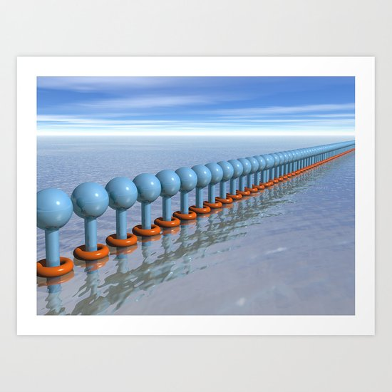 Synchronized Swimming Art Print