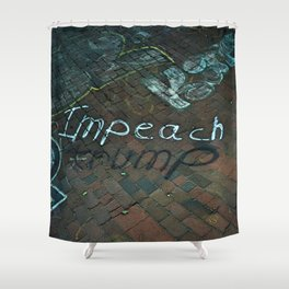 Spray paint: Impeach Trump Shower Curtain