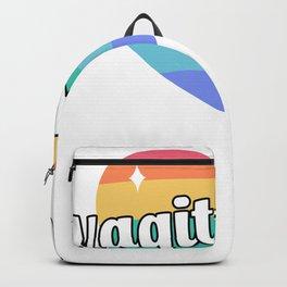 Vagitarian Lesbian Gay Couple Funny LGBTQ Backpack
