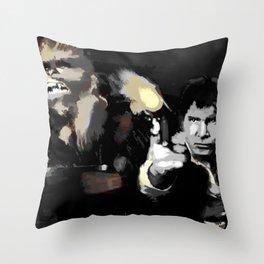Han Solo & Chewbacca Throw Pillow