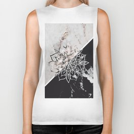 Yin Yang Mandala on Marble #1 #decor #art #society6 Biker Tank