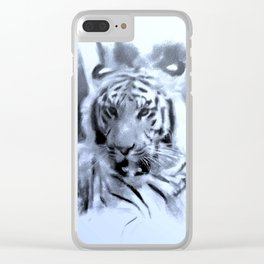 Animals and Art - Tiger Clear iPhone Case