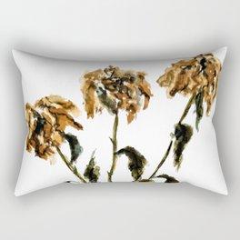 Three dried peonies Rectangular Pillow
