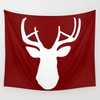 stag Wall Tapestries featuring Stag by Kelsey Drake