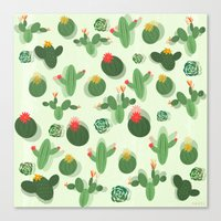 succulent Canvas Prints featuring Succulent by Kakel