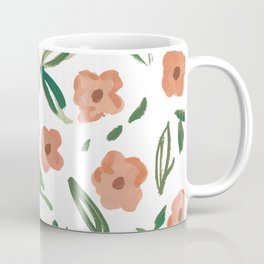 Live Simply Floral Pattern Coffee Mug