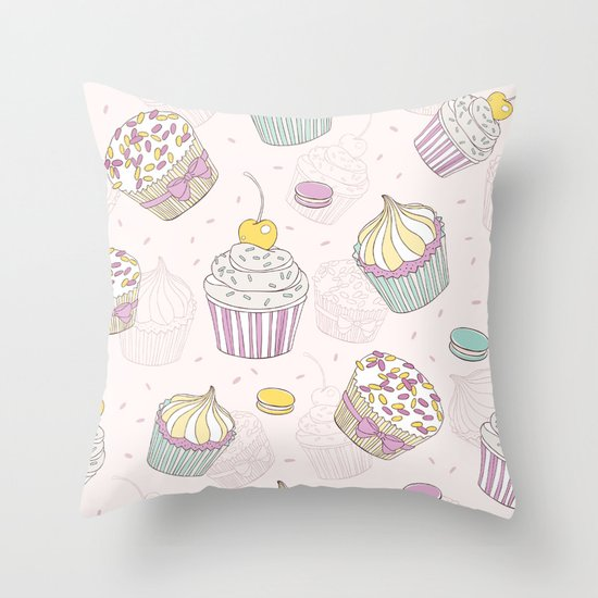 Sweets Galore! Throw Pillow