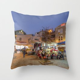 Istanbul At Night Throw Pillow