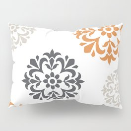 Flowers in Grey and Mustard Pillow Sham