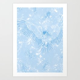 A Mild Breeze (Sky Blue) Art Print