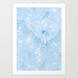 A Mild Breeze (Sky Blue) Art Print