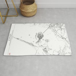 Venice Map White Rug