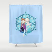 sisters Shower Curtains featuring Sisters by Inque