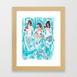 WILD MERMAIDS Framed Art Print