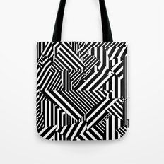Dazzle Camo #01 - Black & White Tote Bag
