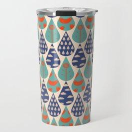 Rain Drop Pattern Travel Mug