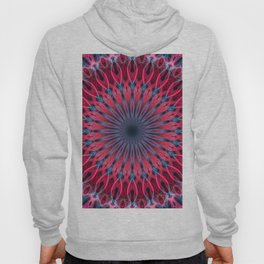 Pretty mandala in vivid red and blue tones Hoody