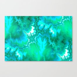 Synaptic Transmission Green Solace Canvas Print
