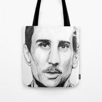the godfather Tote Bags featuring Young Godfather! by DeMoose_Art